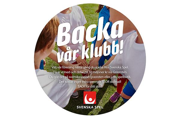 Backa vår klubb, välj Landskrona BoIS när du spelar hos Svenska Spel